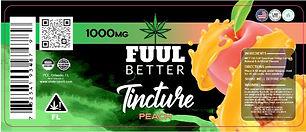 1000MG Peach Delta-8 Oil Tincture FUUL BETTER