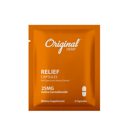 Relief Capsules (25mg) | Daily Dose Original Hemp