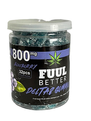 Delta-8 800MG Blueberry 32pc 25MG EA FUUL BETTER