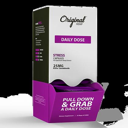 Stress Capsules (25mg) Daily Dose 30 BAG DISPLAY Original Hemp
