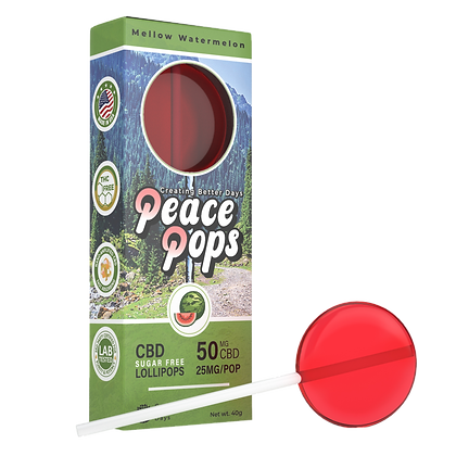 Nano-CBD Lollipop – Mellow Watermelon 50mg (Sugar Free)