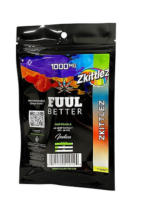 Delta-8 1000MG ZKITTLEZ (INDICA) Reachargable Disposable FUUL BETTER