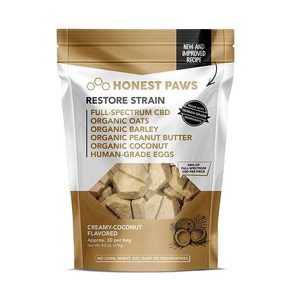 Creamy Coconut Healthy Coat Restore Bites 30 Pack Honest Paws
