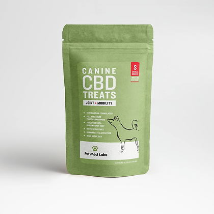 CANINE JOINT + MOBILITY CBD TREATS: Small Breed Pet Med Labs