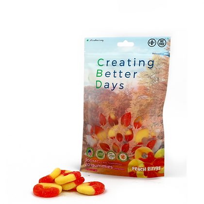 300MG Peach Rings (20 Pieces) Creating Better Days