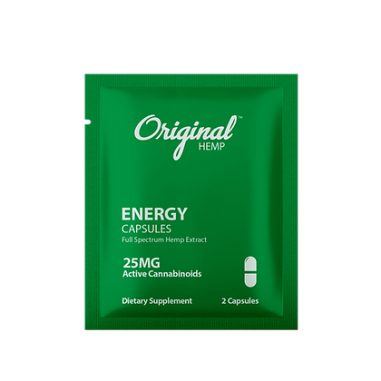 Energy Capsules (25mg) | Daily Dose or 30 BAGS Display Original Hemp