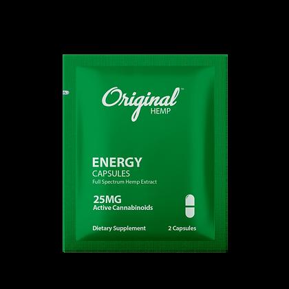 Energy Capsules (25mg)   Daily Dose or 30 BAGS Display Original Hemp