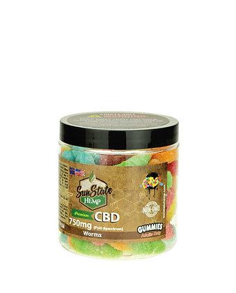 Sour Gummy Worms 750mg Full Spectrum Sunstate Hemp