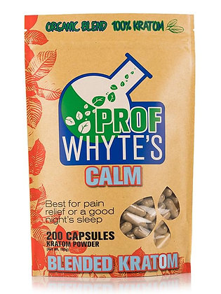 200 Count Calm Kratom Capsules Prof Whytes