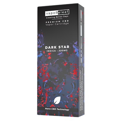 500MG Dark Star Indica Nano-CBD Cartridge Creating Better Days