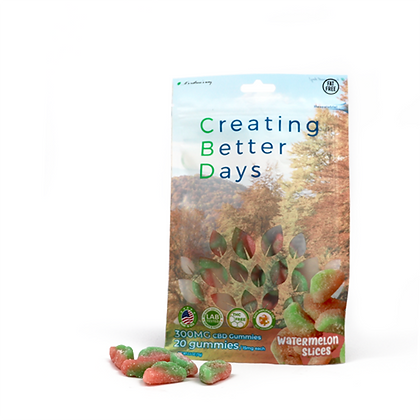 300MG Watermelon Slices (20 Pieces) Creating Better Days