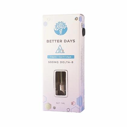 Delta 8 Cartridge • Full Spectrum CBD • 500mg Vape Cartridge 1ML Better Days