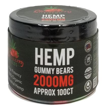 2000MG GUMMY BEARS 100CT Strawberry Fields
