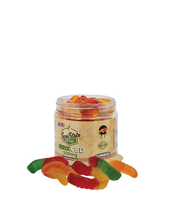Gummy Worms Traditional 500mg Sunstate Hemp