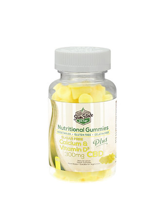 Calcium & Vitamin D - 300mg Sugar Free Nutritional Gummy