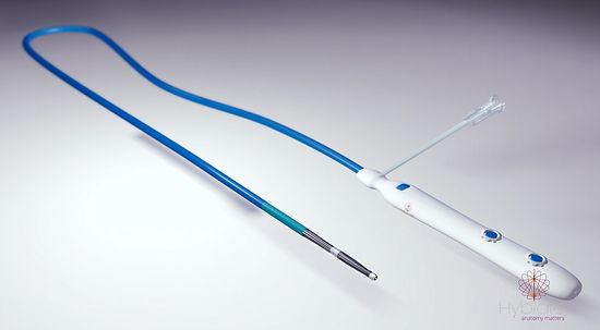Hyblate product self adjusting catheter