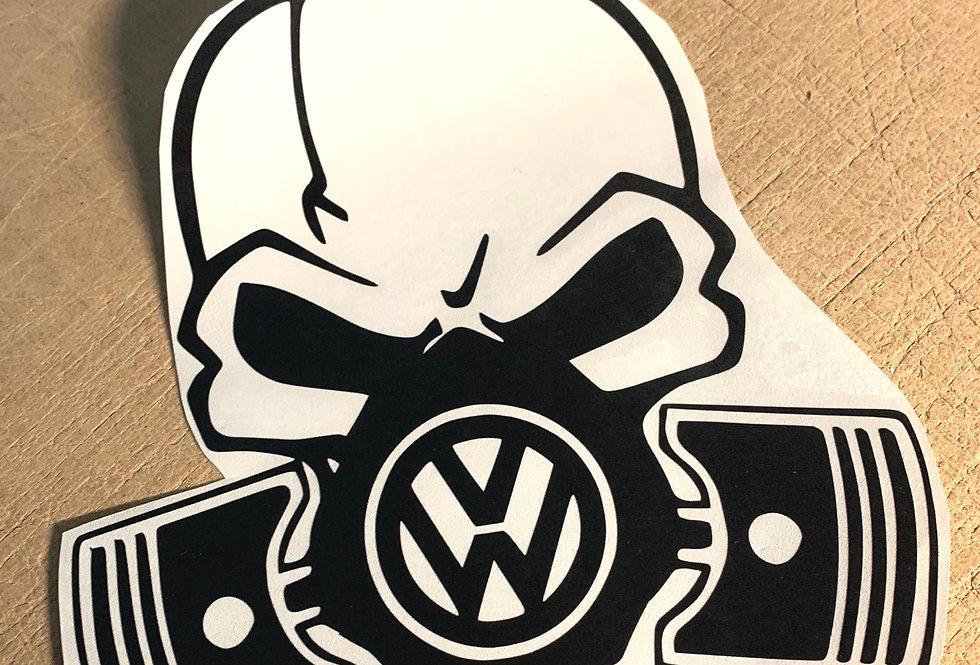 VW Skelton GasMask Decal