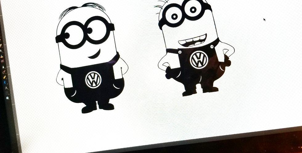 Custom Minion Car Brand Decal