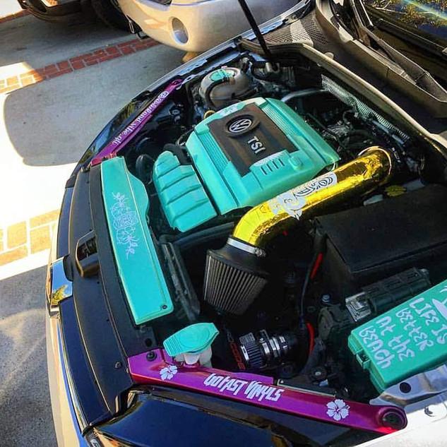 Island Vibe GTI Custom Engine Bay