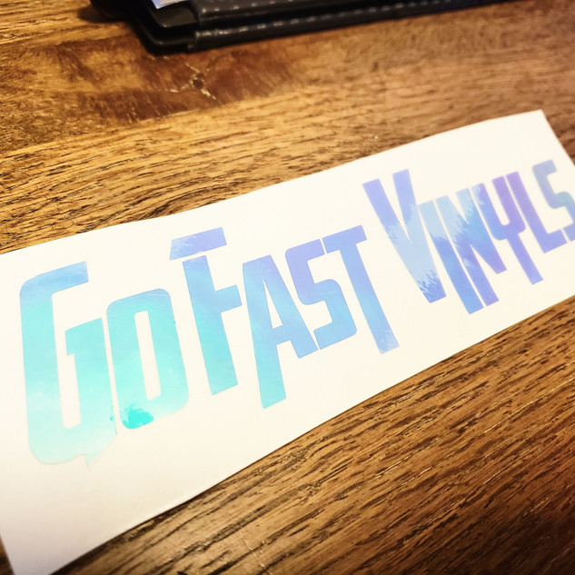 Go Fast Vinyls Brand Opal White Decal