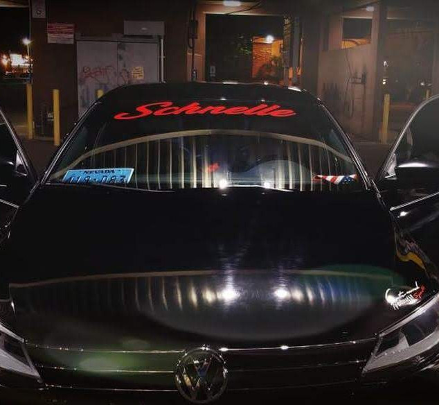 MK6 Jetta with Custom Window Banner