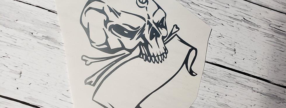 Horned Skull W/Banner