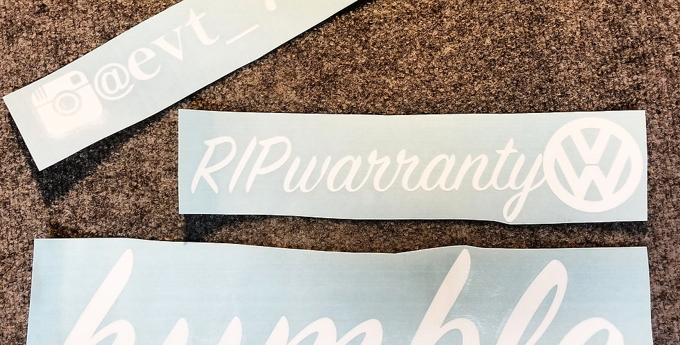 """3 Custom Decals Any Size Up To 24"""" Long Bundle"""