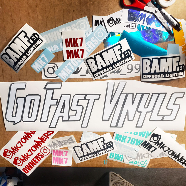 Go Fast Vinyls Decal Collage