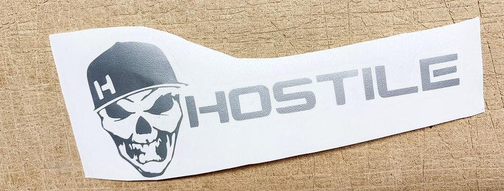 Hostile W/ Skull Logo