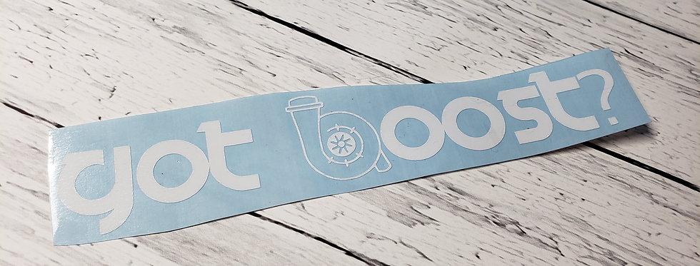 Got Boost? W/Turbo