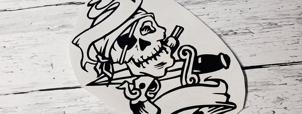 First Mate Skull W/Banner