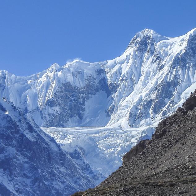 Glacier behind Luxus Hunza