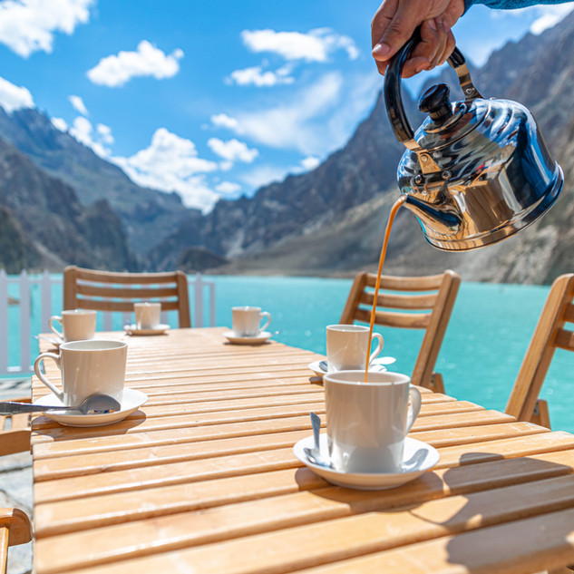 Enjoy tea with a view to die for