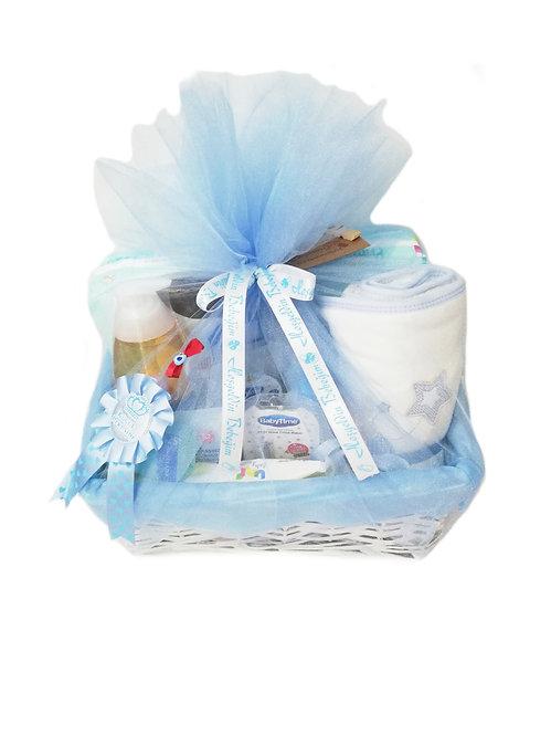 Yenidoğan Bebek Hediye Sepeti Büyük Mavi