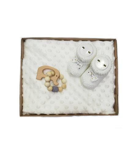 Boncuğum Bebek Battaniye Hediye Seti Krem