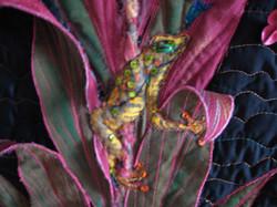 Frog in Thai plant/detail