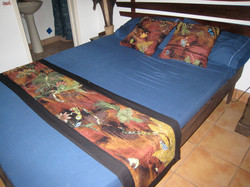 Bed Runner and cushions