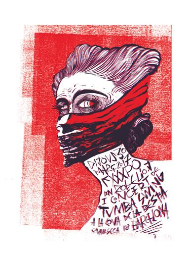 Cartel serigrafia LA COVA