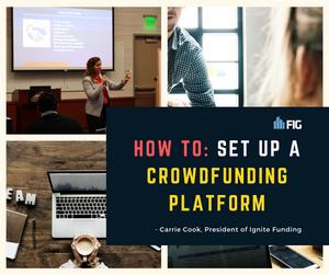 how to set up a crowdfunding platform