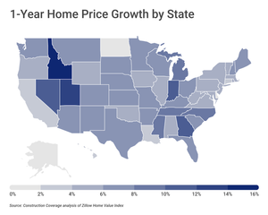 multifamily investing home price growth by state