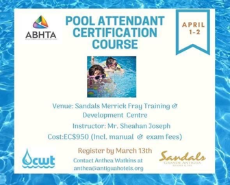 CWT/ABHTA Pool Attendant Certification Course - POSTPONED