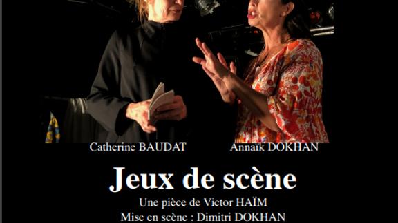 """[REPORTE] Sam. 05/12 et Dim. 06/12 : Théâtre """"Jeux de Scène"""", de Victor Haïm"""