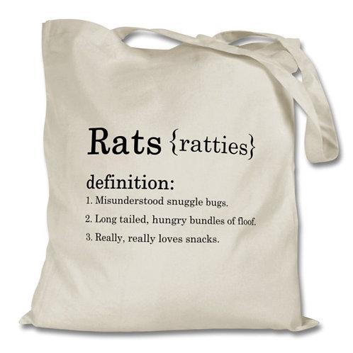 100% Cotton Natural Tote - Rats