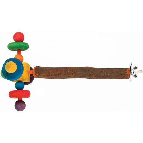 Wooden Twirler Spinning Toy on Perch