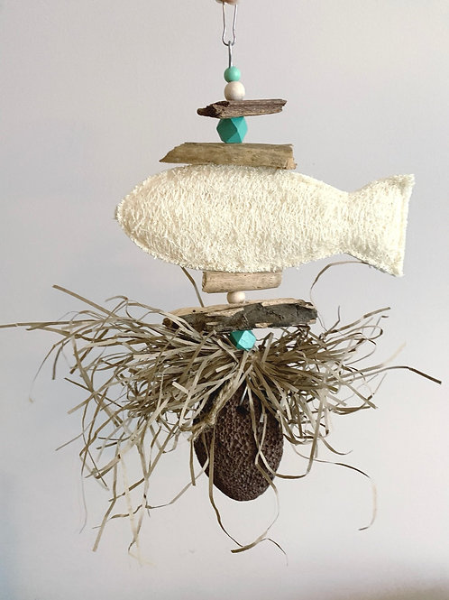 Natural Loofah Fish & Pumice toy