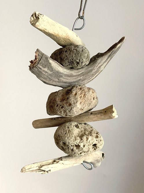 Natural Pumice & Driftwood Hanging Toy