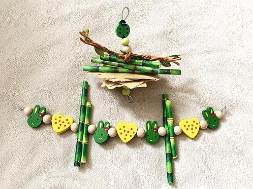Green & Yellow Toy Set