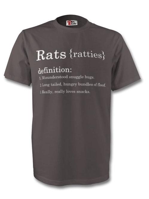 (Unisex) Premium 100% Cotton T-shirt-Rats, Dark Grey