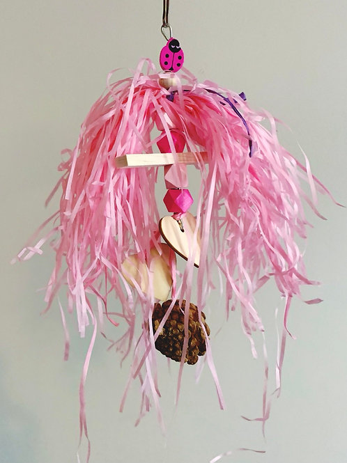 Pink & Natural Toy with Pinecone