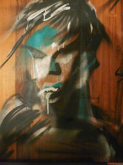 graffiti portrait Mattman